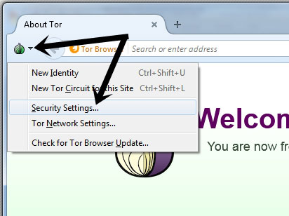 Tor Security Settings