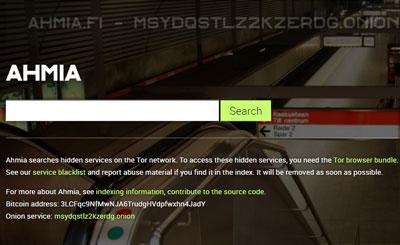 Deep dark web search engine