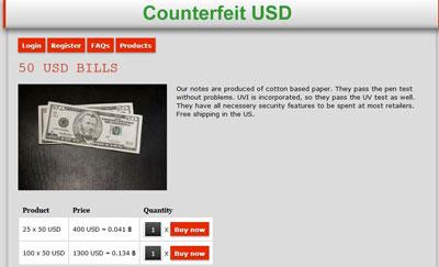 Counterfeit US Notes Screenshot